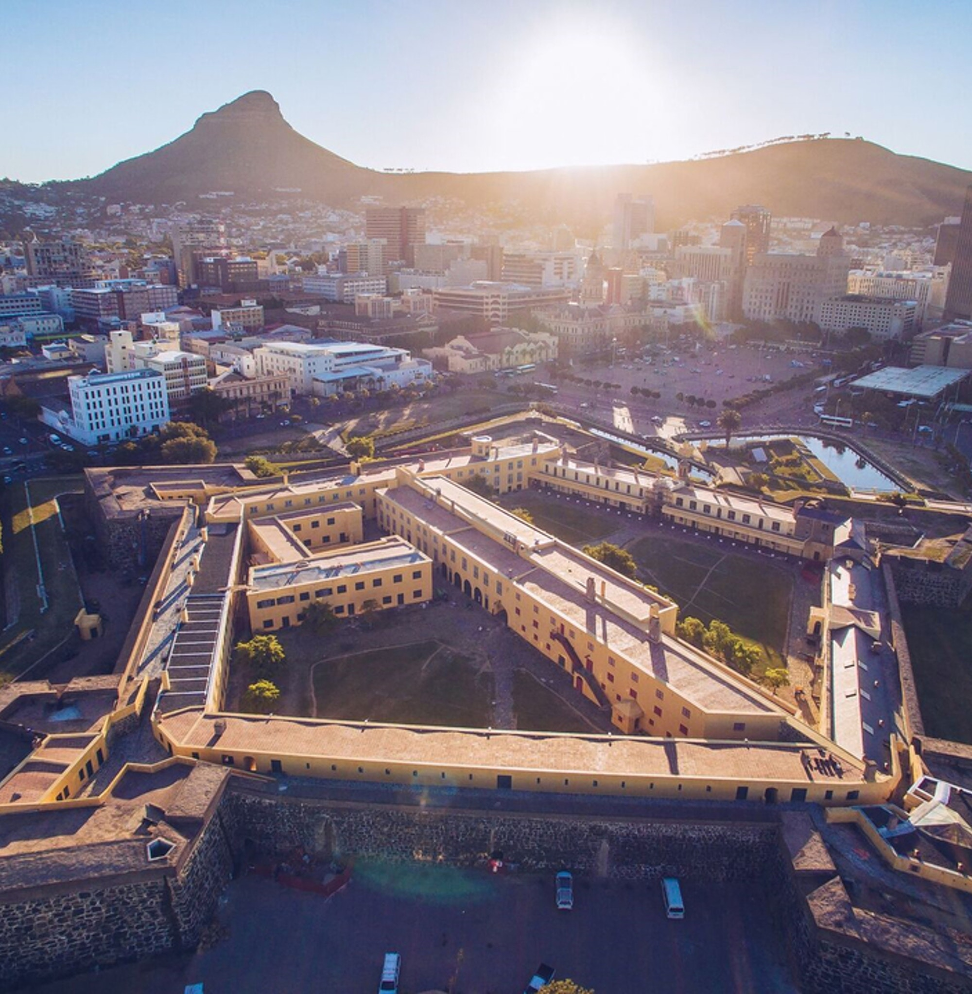 Aerial view of the Castle of Good Hope