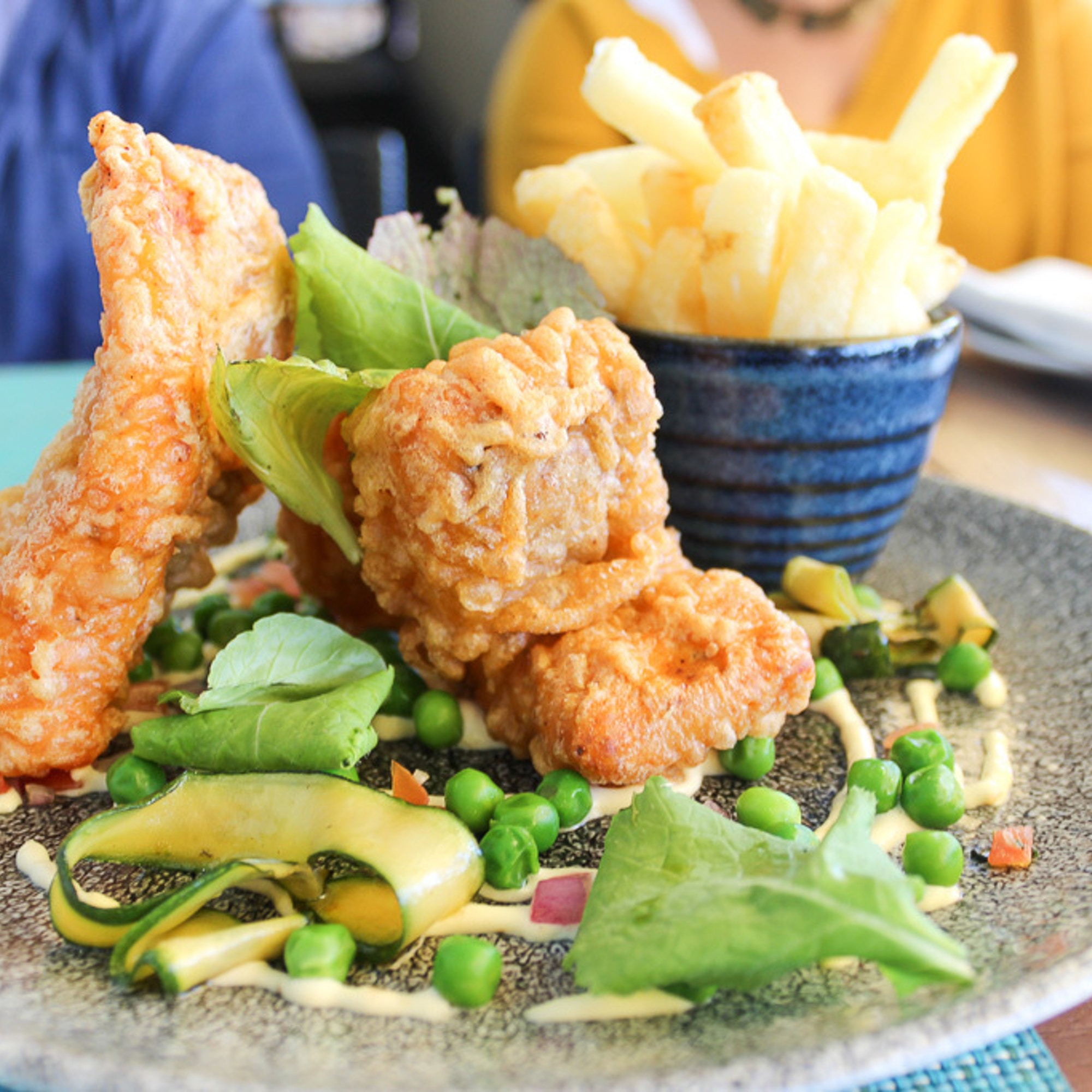 Fish and chips at Two Oceans Restaurant Cape Point