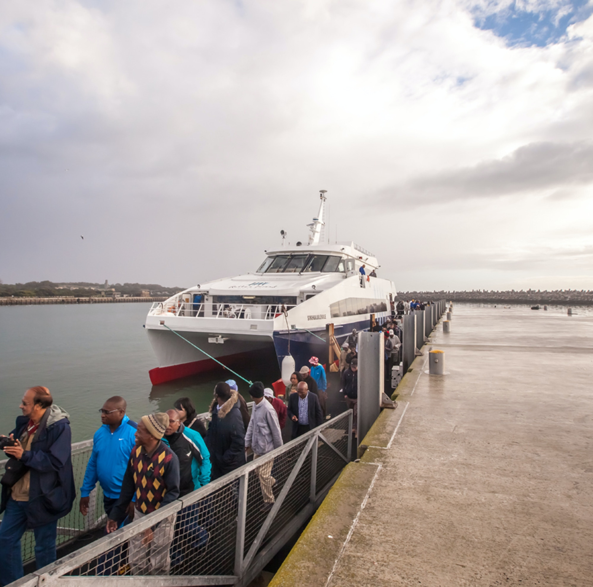 Disembarking at Robben Island