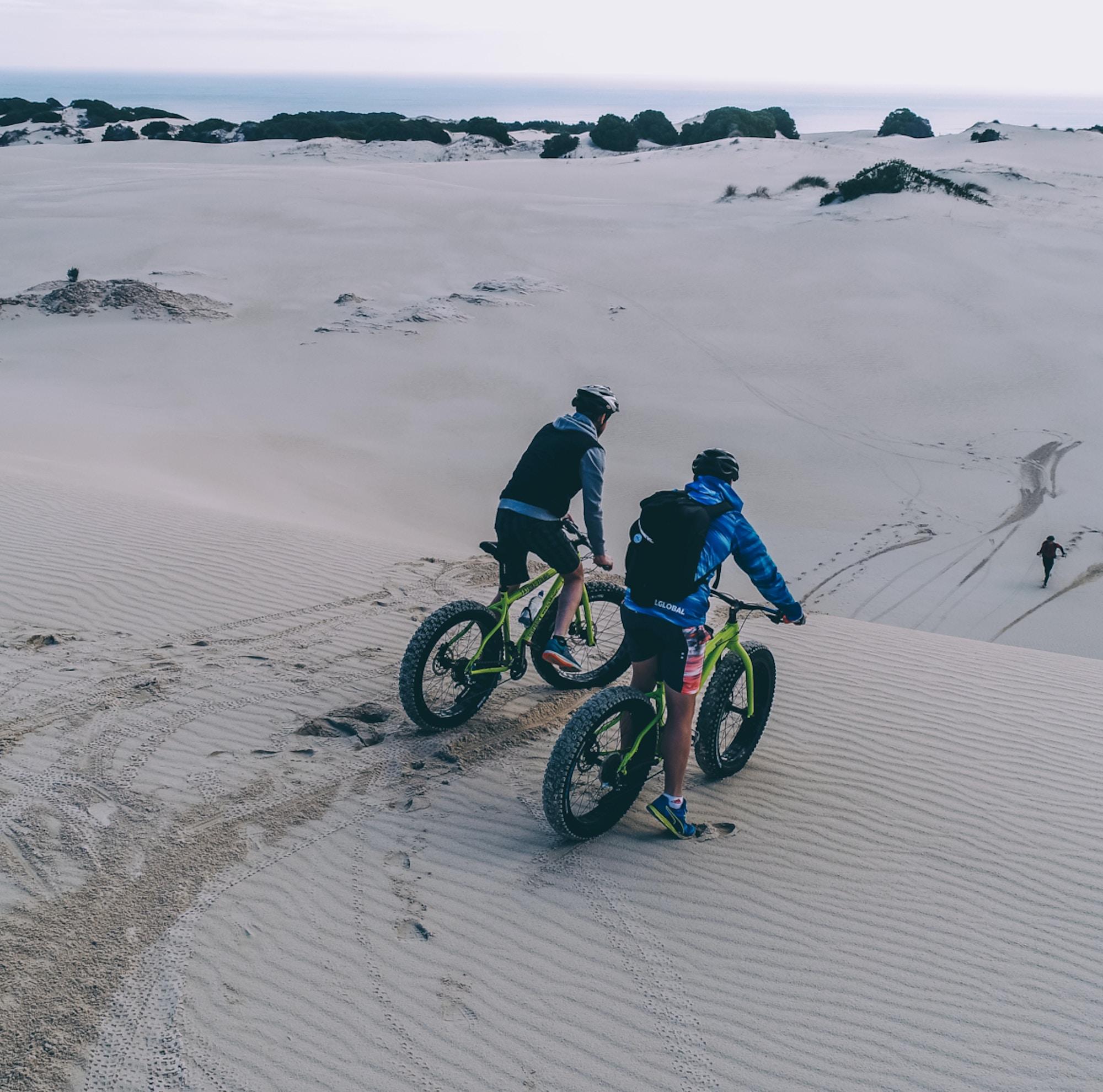 Fat Biking in the dunes of Gansbaai Image Shawn Ugulu