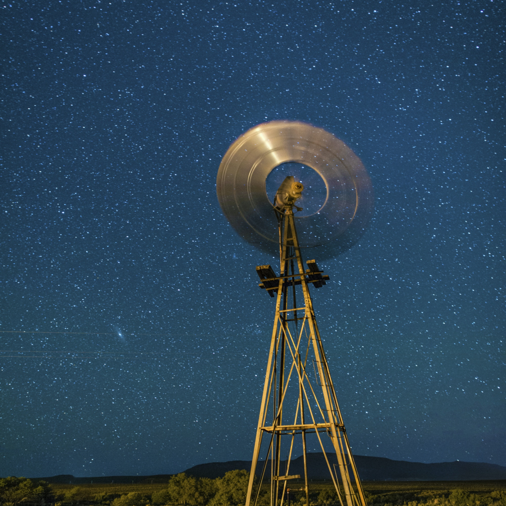 Karoo windmill and stars